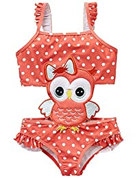 CRAZY GOTEND Girls One Piece Ice-Cream Swimsuits Hawaiian Swimwear Beach Bathing Suit 6-12Months