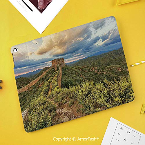 Slim Case for Samsung Galaxy Tab S4 T830 T835 SM-T837 10.5 Protective,Great Wall of China,Exquisite Skyline on Classical Old Castle Wonder of The World Themed,Green Blue