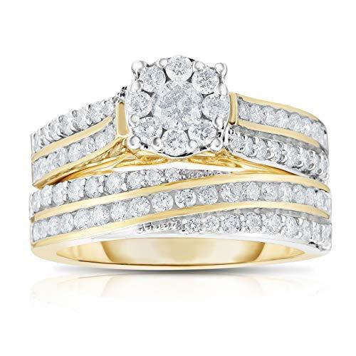 Diamond LAB Grown 1.25Ctw Round 10KT Yellow Gold Ring (SZ 7) ()