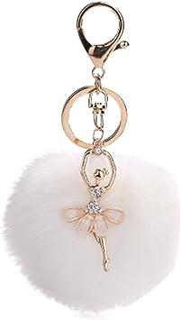 En fourrure synthétique douce Pompon Bricolage Voiture Sac à main Keychain Fluffy Ball Pendentif Accessoires