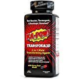 3-in-1 Fat Burner, Testosterone Booster, NOOTROPIC Stimulant - TRANSFORM3D Fat Burning Pills - Ultimate Thermogenic Fat Burners for Men! A Male Game Changer for Fat Loss, Muscle Gain, and Clear Focus
