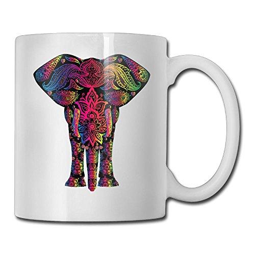 Clipart Of A Colorful Elephant Personality Fashion Custom Coffee/ Tea Mug