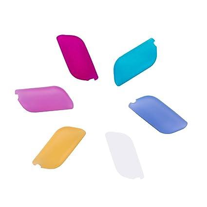 Flexible de silicona cepillo de dientes portátil de viaje fundas protectora evitar Molar Pack de 6