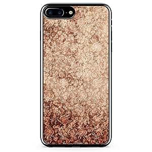 iPhone 8 Plus Transparent Edge Phone case Elegant Phone Case Elegant Rose Pattern Phone Case Rose iPhone 8 Plus Cover with Transparent Frame