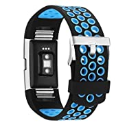 Vancle Bands for Fitbit Charge 2, Adjustable Soft Silicone Replacement Bands Sports Accessories Straps for Fit bit Charge 2 Heart Rate Fitness Tracker