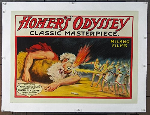 Homer's Odyssey [L'odissea] (1911) Original Movie Poster Ancient Silent Film Poster