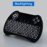 Lynec H9 2.4GHz Backlit Wireless Keyboard Mouse Remote Touchpad for PC,Xbox 360,PS3,Raspberry Pi 3 ,Google Android TV Box,Nvidia Shield TV,HTPC,IPTV