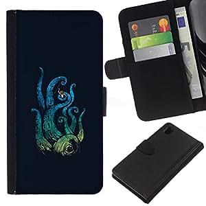 All Phone Most Case / Oferta Especial Cáscara Funda de cuero Monedero Cubierta de proteccion Caso / Wallet Case for Sony Xperia Z1 L39 // Octopus Attack