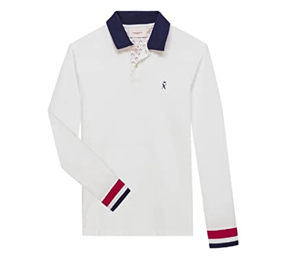 Vicomte A. Polo - Polo Manches Longues Marine - Taille S ZD67jACvki