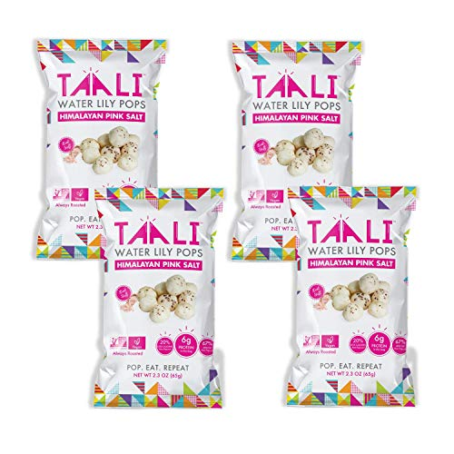 Taali Himalayan Pink Salt Water Lily Pops (4-Pack) - Classic Flavor from the Mountains | Protein-Rich Roasted Snack | Non GMO Verified | 2.3 oz Multi-Serve Bags