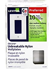 Wallplate, 10 Pack, Leviton 0PJ26-0WM 1-Gang Decora Midway Wall Plates - White