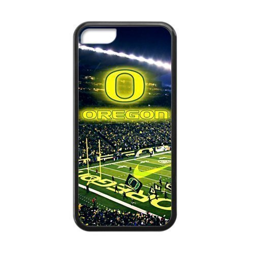 Hoomin NCAA Oregon Ducks Hot Games iPhone 5C Cell Phone Cases Cover Popular Gifts(Laster (Oregon Ducks Mens Leather)