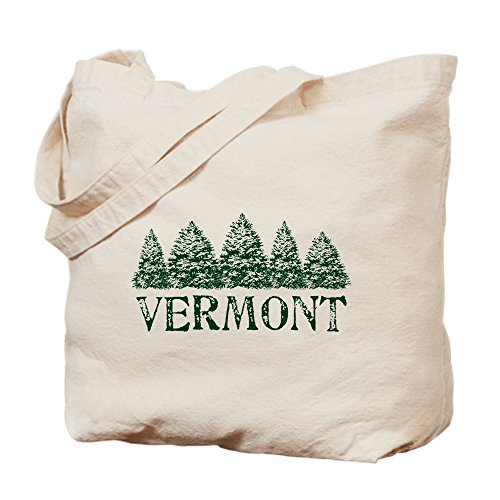 CafePress - VT Winter Evergreens - Natural Canvas Tote Bag, Cloth Shopping - Vt Shopping Bag