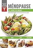 Ménopause: 21 jours de menus