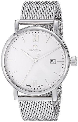 Swiza Men's WAT.0141.1003 Alza Analog Display Swiss Quartz Silver Watch