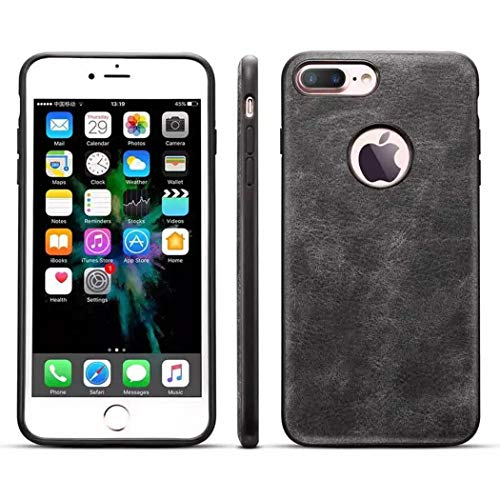 iPhone 7 Leather Case,iPhone 8 Leather Case, Ultra Slim Fit Artificial PU Synthetic Leather Case Shock Resistance Cover for iPhone 7/iPhone 8, 4.7 Inch (Dark Gray) by SIW WSX