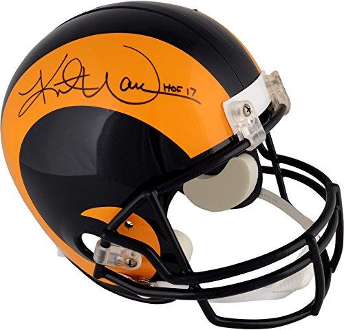 (Kurt Warner St. Louis Rams Autographed Riddell Throwback 1981-1999 Replica Helmet with