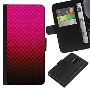 iBinBang / Flip Funda de Cuero Case Cover - Gradiente de color rosa rojo marrón - LG Optimus G3