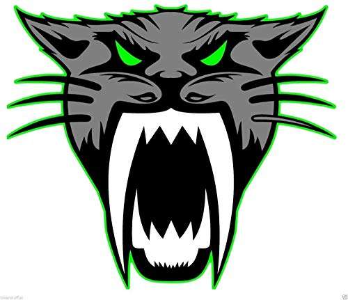 MFX Design Arctic Cat Head Sticker Decal Die Cut Car Phone Helmet Sticker Decal Laptop Sticker Decal Toolbox Sticker Decal Vinyl - Made in USA 3 in. x 3 in. ()