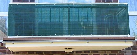 Jinju Cojín de balcón de Polietileno de 0,9 m de Ancho, Color Verde Oscuro, Cortavientos, privacidad y protección UV para Balcones, Jardines, Camping y recreación: Amazon.es: Jardín