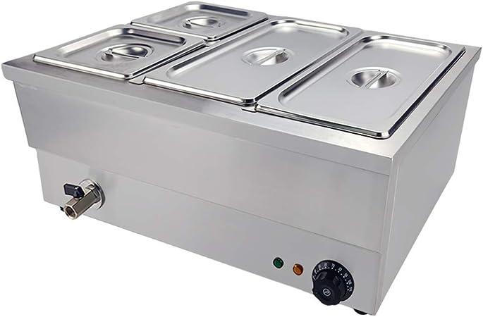 in acciaio INOX 1500 W 1//3 GN Pan /& Coperchi TAIMIKO Commercial Bain Marie Scaldavivande elettrico per salse o cibo umido
