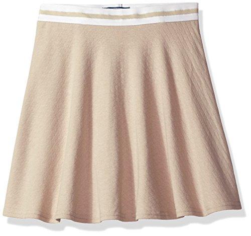 Cherokee Big Girls' Uniform Skirt With Hidden Short, Jersey Flare Khaki, 12 (Uniform Waist Elastic)