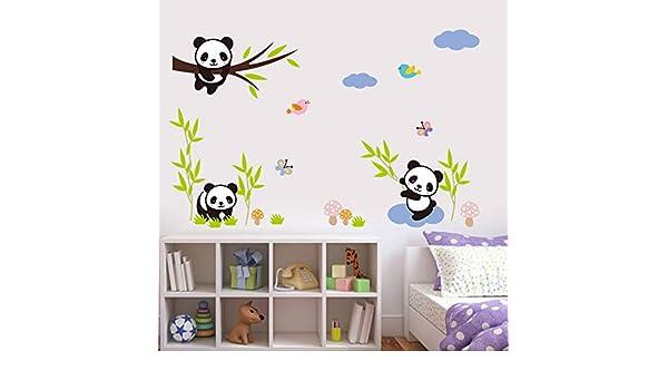 ZRSCL Vivir con animales adorables Pegatinas de pared para habitación de niños Decoración del hogar Diy Cartoon Safari Monkey Owl Giraffe Lion Mural Art Decals30CMX90CM: Amazon.es: Bricolaje y herramientas