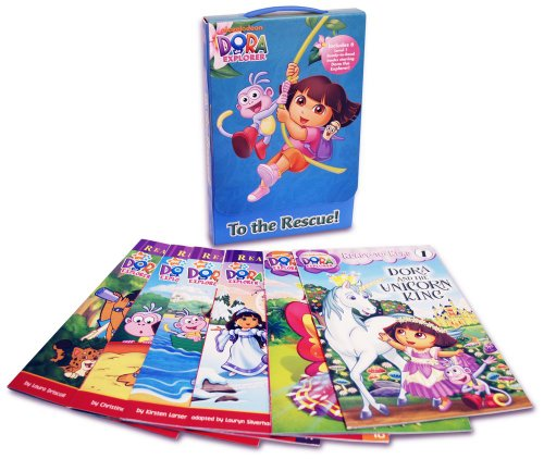 - To the Rescue!: Dora's Mystery of the Missing Shoes; Dora Helps Diego!; Dora and the Unicorn King; Crystal Kingdom Adventures; Dora and the Baby Crab; ... (Dora the Explorer: Ready to Read Level 1)