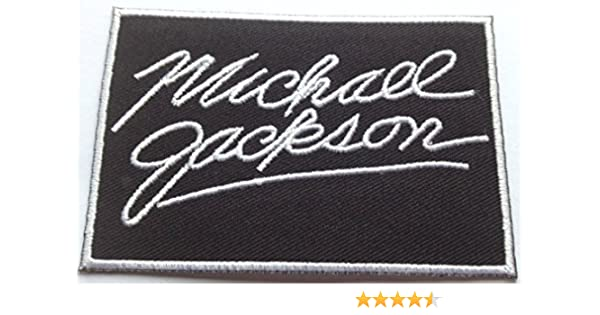 BAD 25th Anniversary Patch Michael Jackson Embroidered Badge MJ Costume Bag NEW