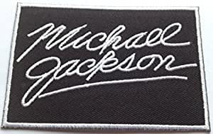 "12 LOT MICHAEL JACKSON IRON ON PATCHES 3"" X 1 3//4"""