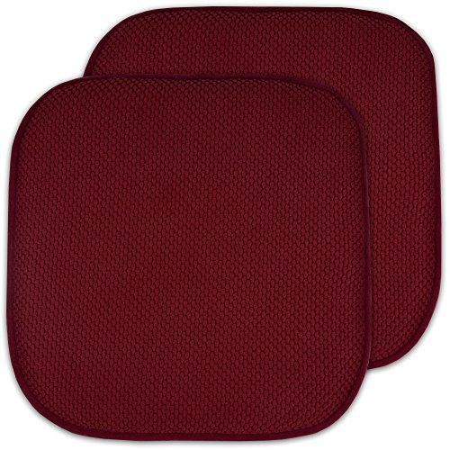 2 Pack Memory Foam Honeycomb Nonslip Back 16quot x 16quot Chair/Seat Cushion Pad