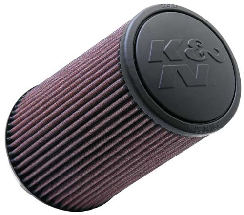 Price comparison product image K&N RE-0870 Universal Clamp-On Air Filter: Round Tapered; 4 in (102 mm) Flange ID; 9 in (229 mm) Height; 6 in (152 mm) Base; 4.625 in (117 mm) Top