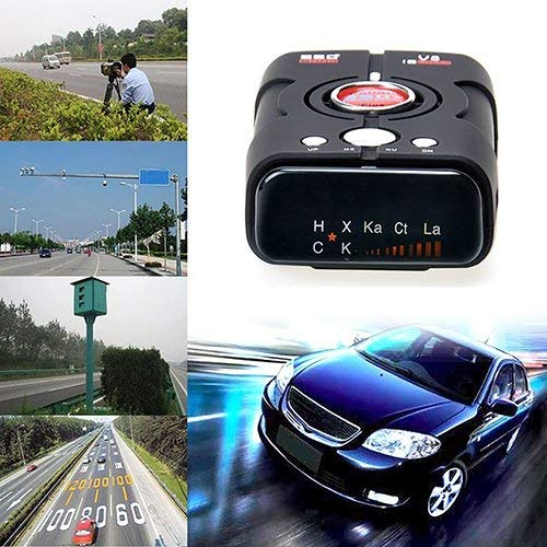 RICHOYY Radar Detector, Voice Prompt Speed, City/Highway Mode Radar Detector for Cars (Black) in USA