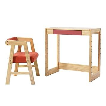 Juegos de mesas y sillas Mesa de estudio y silla mesa de madera maciza mesa de ...