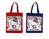 Brand New Set of 2 Hello Kitty Union Jack London Tote Bag – Red & Blue British ! For Sale