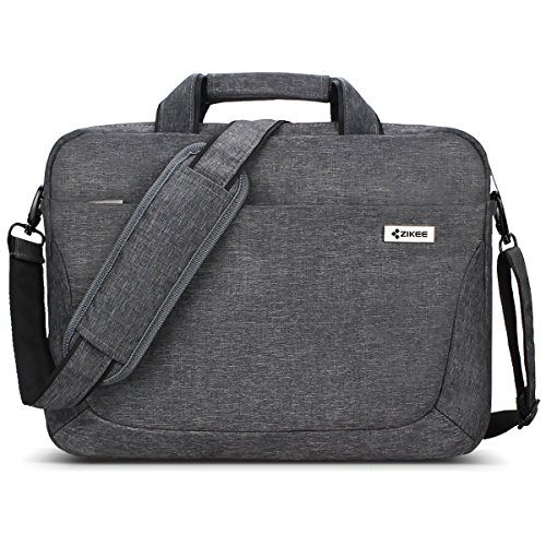 Zikee 15.6 Inch Laptop Shoulder Bag, 360° Protective Multifunctional Computer Messenger Bag Case for Apple MacBook Pro, Air, Surface, Dell, HP, Acer, ASUS, Lenovo, Chromebook, and More (15-15.6 Inch)