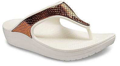 f4731db4e524 Image Unavailable. Image not available for. Color  Crocs Women s Capri V  Sequin W Flip Flop