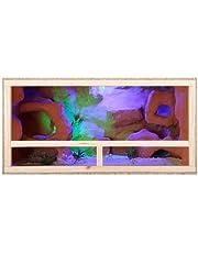 Repiterra Terrarium en bois 100x 50x 40cm avec plaques d'aération latérales en OSB avec verre flotté