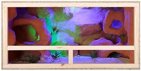 Terrario de tamaño grande: madera Terrario para Reptiles página ventilación 120 cm x 60 cm x 60 cm alta calidad Terrario Madera de OSB - Side Vent