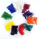 7500 beads 12 Pack Combo (90 grams) MarvelBeads Water Beads Gel Pearls- Makes 3-4 gallons of Beads when fully absorbed- Great for Wedding decor, Home decor, Vase filler, Orbeez refill.