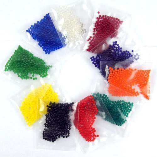 90 Grams Vase Filler MarvelBeads 12 Pack Combo Water Beads Gel Pearls- Makes 3-4 gallons of Beads When Fully Absorbed- Great for Wedding Decor Home Decor for spa Refill