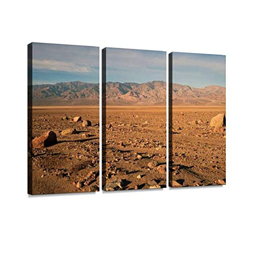 BELISIIS Beautiful Sunrise Death Valley National Park Wall Artwork Exclusive Photography Vintage Abstract Paintings Print on Canvas Home Decor Wall Art 3 Panels Framed Ready to Hang (Valley Park National Death Sunrise)