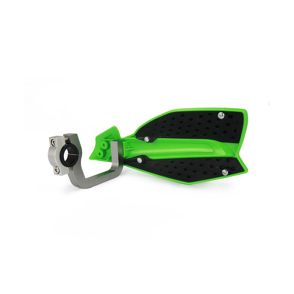 JFGRACING Vert 22mm et 28mm Universel Double D/émontable Main Garde Brosse Barre Pour Moto Kawasaki KX65 KX85 KX125 KX250 KX500 Dirt Bike