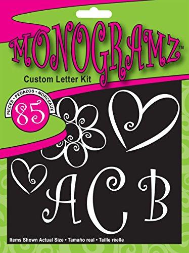 - CHROMA 5380 Monogramz White Initial Decal Kit