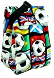 Cool Tote Insulated Lunch Bag Grande Cooler Tote with Freezer Pack. Reusable for Kids, Teens, and Adults. (Soccer)