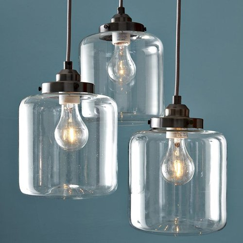 Cheap Y&L Industrial kitchen Dining Room Living Room Linear island Home Ceiling Lighting Pendant Light Vintage Lamp Chandelier -3 Lights Bulb Included
