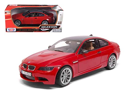 StarSun Depot BMW M3 E92 Coupe Red 1/18 Car Model by Motormax