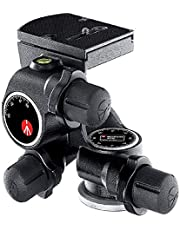 Manfrotto Junior Geared Tripod Head, for Camera Tripods, High-Precision Fluid Head, Photography Equipment, Camera, for Professional Photographers