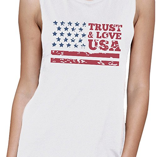 Sans Unique amp; Usa 365 Pull Femme Taille Manche Printing Love Trust ww7CYqE