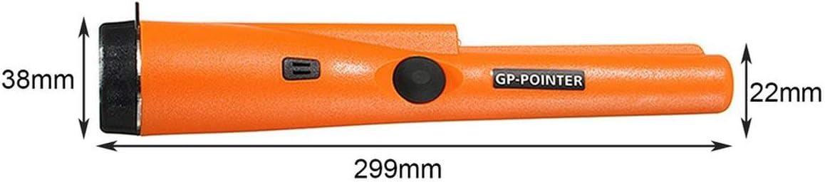 Detector de metales de localizaci/ón precisa JBP-X Mano Alarma est/ática con funda para cintur/ón Detector de oro Detector de metal L/ápiz sensible
